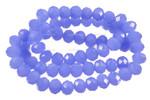 """6mm Reconstructed Chalcedony Faceted Rondelle Beads 15.5"""" [sc2b4]"""