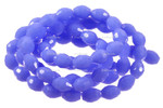 """4x6mm Reconstructed Chalcedony Faceted Rice Beads 15.5"""" [fsc6b4]"""