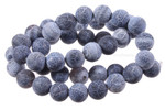 10mm Black Spider Agate Beads 15.5""