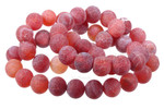 """8mm Red Spider Agate Beads 15.5"""""""