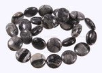 """15mm Picasso Jasper Puff Coin Beads 15.5"""""""