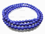 6mm Reconstituted Lapis Round Beads 15.5""