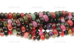 """10mm Tourmaline Agate Faceted Rondelle Beads 15.5"""""""