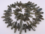 18-20mm Labradorite Briolette Beads 15.5""