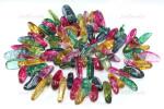 "18-20mm Natural Ice Flake Quartz Briolette Beads 15.5"""