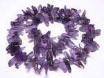 15-18mm Natural Amethyst Briolette Beads 15.5""