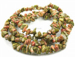 8-12mm Unakite Chips 36""