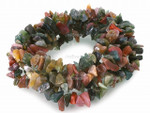 8-12mm Blood Agate Chips 36""