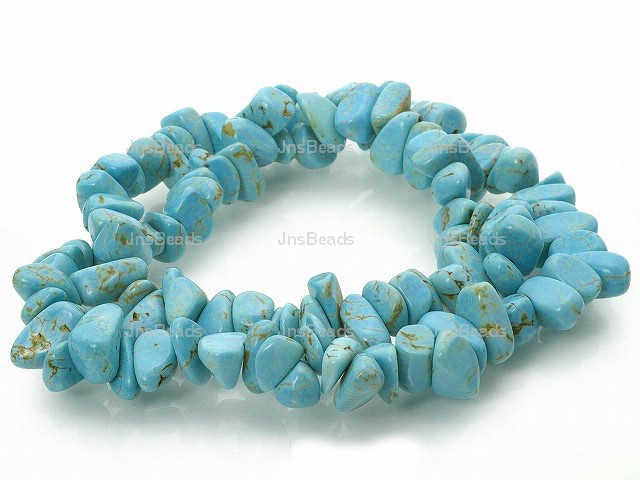 8-12mm Turquoise Nugget Beads 36""
