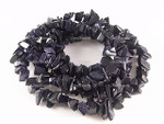 8-12mm Blue Goldstone Chips 36""