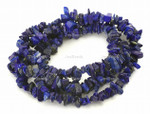 8-12mm A Grade Natural Lapis Lazuli Chips 36""