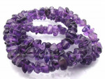 8-12mm Natural Amethyst Chips 36""