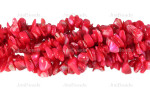 12-14mm Coral MOP Mother Of Pearl Chips 36""