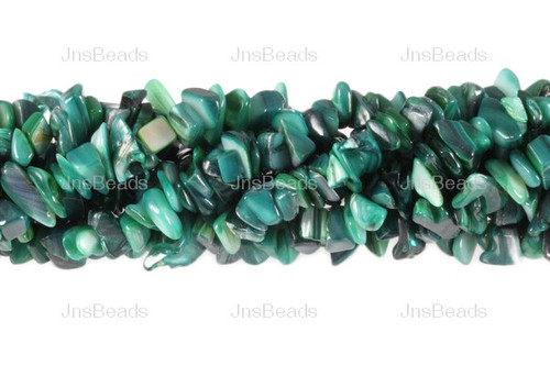 """12-14mm Green MOP Mother Of Pearl Chips 36"""""""