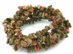 8-12mm Unakite Chips 15.5""
