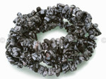 8-12mm Snowflake Obsidian Chips 15.5""