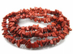 8-12mm Red Jasper Chips 15.5""
