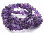 8-12mm Natural Amethyst Chips 15.5""