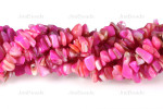 12-14mm Rose MOP Mother Of Pearl Chips 15.5""