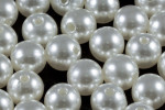 12mm Best Lustre Pearl Plastic Approx.35pcs.