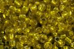 Seed Beads 3mm 8/O 50 Gram (Appx.2000), Silver Lined Yellow