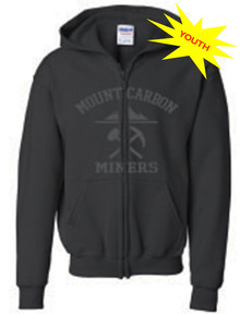 Miners Collegic Youth Zip Hoodie - Black
