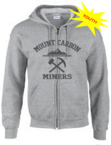 Miners Youth Collegic Zip Hoodie - Grey