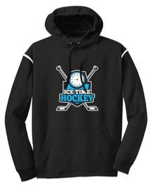 Ice Time Hockey Performance Hoodie - Black / White
