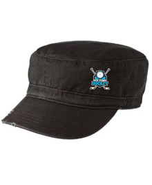 Ice Time Hockey Embroidered Military Cap - Black