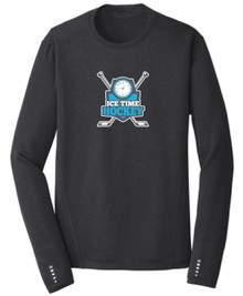 Ice Time Hockey Performance Long Sleeve Crewneck - Blacktop