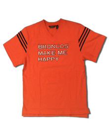 Broncos Make Me Happy Adult Football Tee