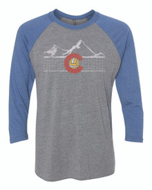 Colorado Volleyball Raglan Tee