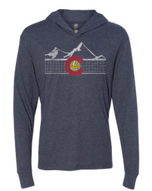 Colorado Volleyball Triblend Hooded Tee