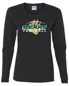 Ladies Bear Creek Football Long Sleeve Tee
