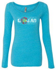 Ladies Colorado Panthers Longsleeve Triblend Tee