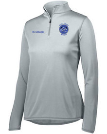 Ladies Embroidered 1/4 Zip Warmup Jacket