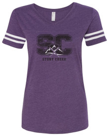 Ladies Stony Creek Football Tee