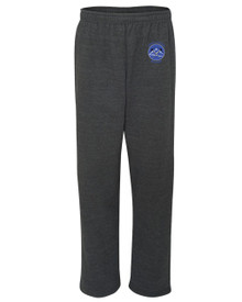 Adult Embroidered Open Bottom Sweatpants