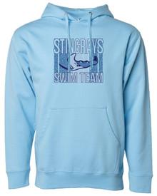 Stingrays Adult Fleece Pullover Hoodie