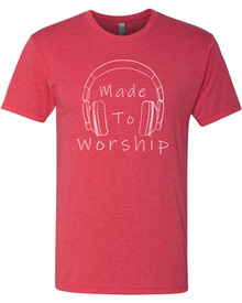 Made To Worship Adult Triblend Tee