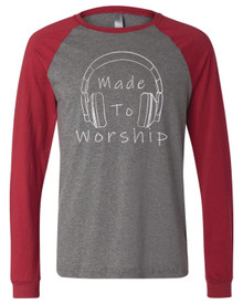 Made To Worship Adult Baseball Tee