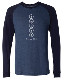 Psalm 100 Adult Baseball Tee