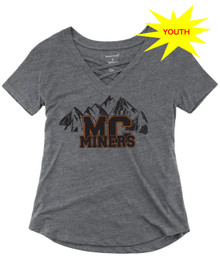 Miners Mountains Girls Caged Front Tee
