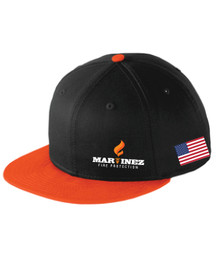Orange / Black Snap Back Hat