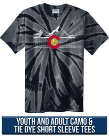 Camo and Tie Dye Colorado Volleyball Tee