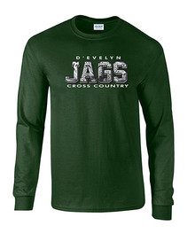 Jags Cross Country Unisex 50/50 Long Sleeve Tee