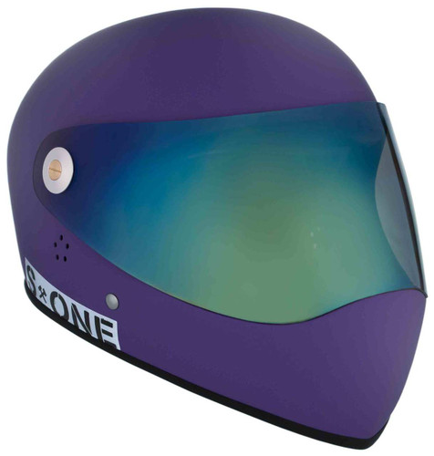 Purple Matte W/ Iridium Visor | S1 Lifer Full Face Helmet Specs: • Specially formulated EPS Fusion Foam • Certified Multi-Impact (ASTM) • Certified High Impact (CPSC) • 5x More Protective Than Regular Skate Helmets • Deep Fit Design