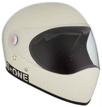 Moto White Gloss W/ Clear Visor | S1 Lifer Full Face Helmet Specs: • Specially formulated EPS Fusion Foam • Certified Multi-Impact (ASTM) • Certified High Impact (CPSC) • 5x More Protective Than Regular Skate Helmets • Deep Fit Design
