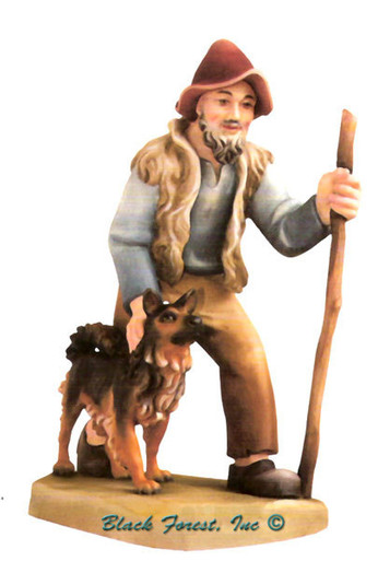 79750-102 Anri 8 Inch Bernardi Shepherd with Dog