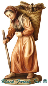 79710-109 Anri 3 Inch Kuolt Painted Shepherdess with Wood